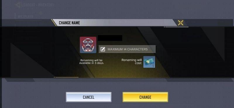 Enter the new name