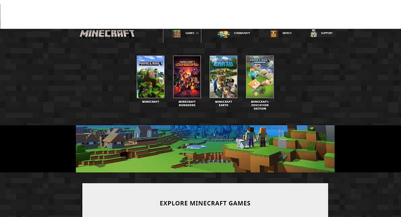 "Select ""Minecraft"""