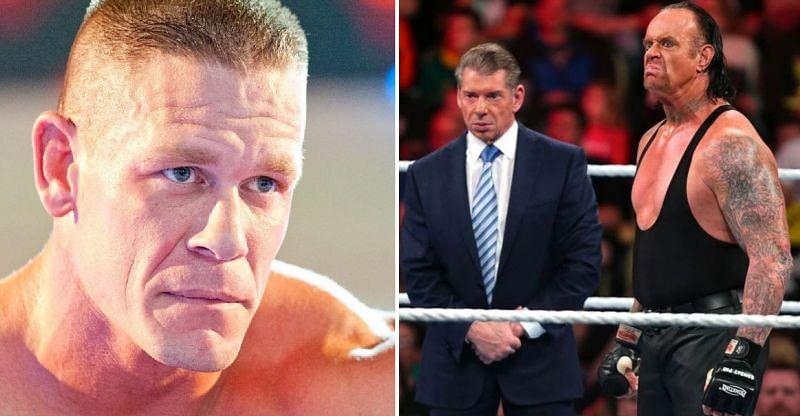 Vince McMahon, John Cena, and The Undertaker