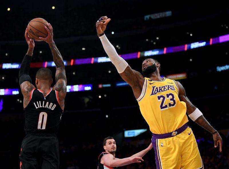 Portland Trail Blazers v LA Lakers on