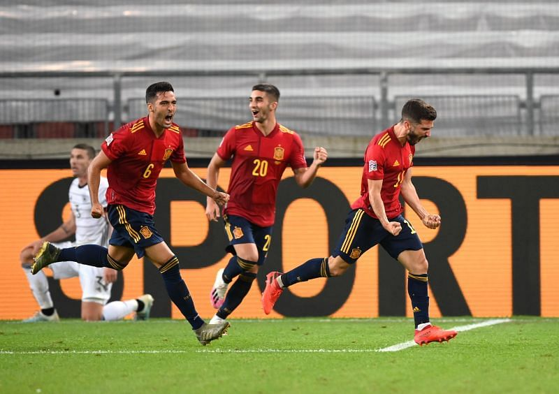 Spain scored in stoppage-time