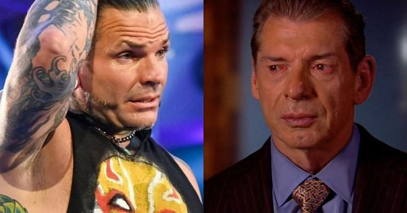 Jeff Hardy and Vince McMahon.