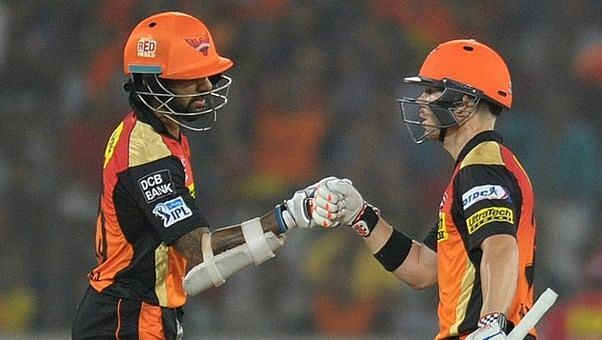David Warner and Shikhar Dhawan once formed a great opening partnership for SRH
