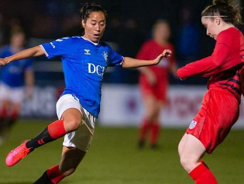 Bala Devi in action for Rangers FC