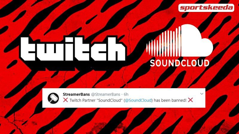 Popular music streaming service SoundCloud has been banned from Twitch