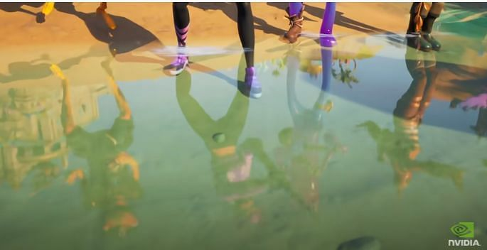 Reflections in Fortnite (Image Credits: Nvidia GeForce, YouTube)