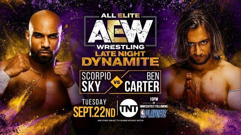 Scorpio Sky vs Ben Carter kicked AEW Late Night Dynamite.