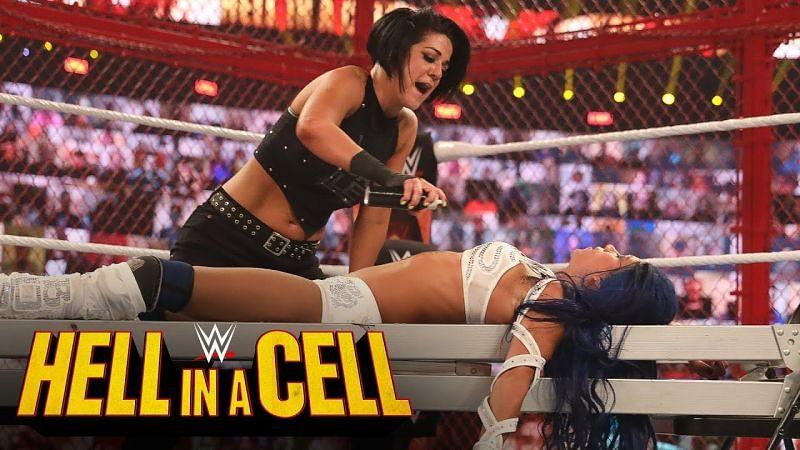 Sasha Banks and Bayley battled at WWE
