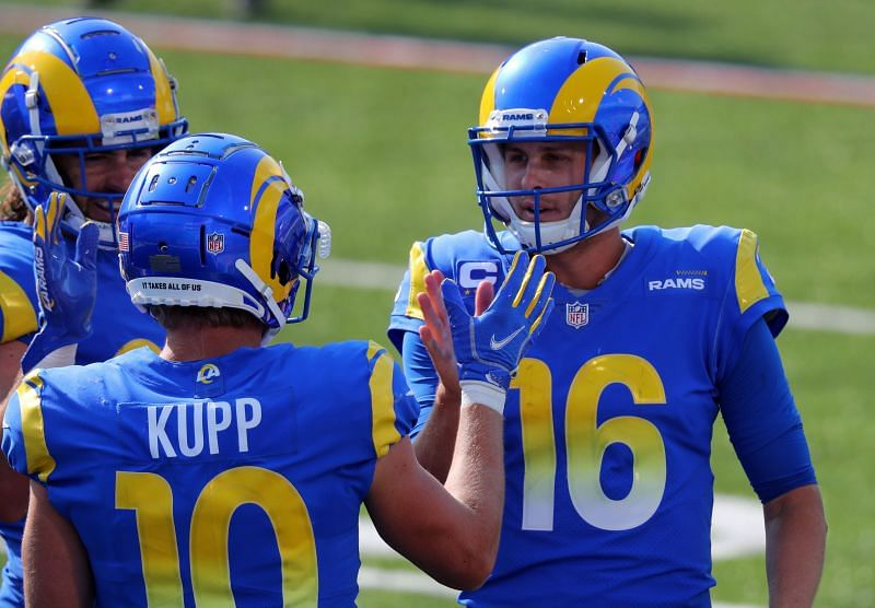 Los Angeles Rams QB Jared Goff and WR Cooper Kupp