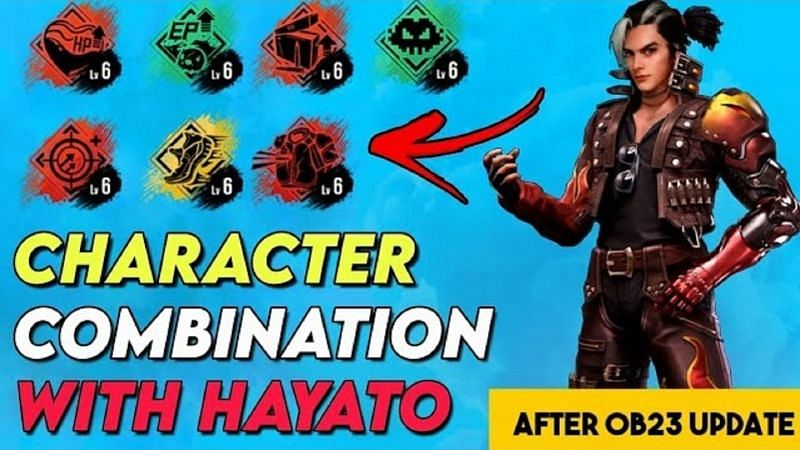 3 best character combinations for Hayato in Free Fire (Image Credits: Dark Shooter Gaming / YouTube)