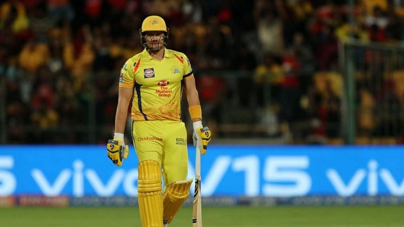Shane Watson has struggled to get going. Pic Courtesy: India TV News