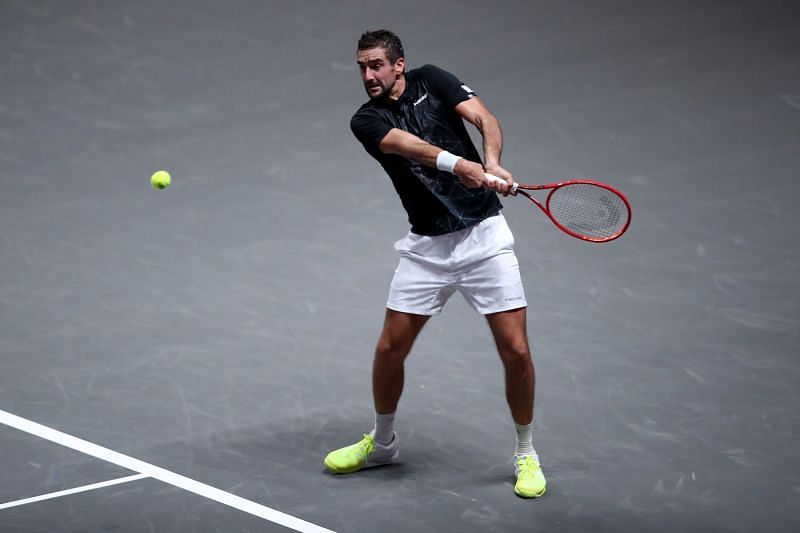 Marin Cilic at the Bett1Hulks Indoors 2020