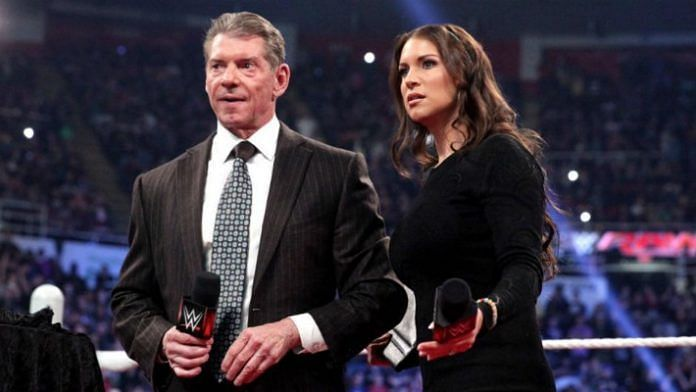 Vince McMahon with Stephanie McMahon