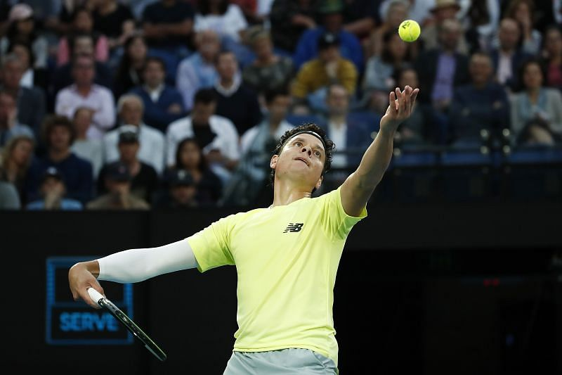 Milos Raonic at the 2020 Australian Open in Melbourne