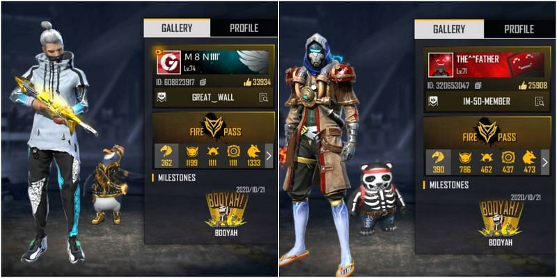 Who has better stats between M8N and B2K in Free Fire?