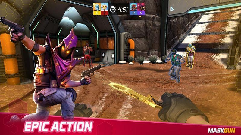 MaskGun Multiplayer Shooting Game (Image credits: APKPure.com)
