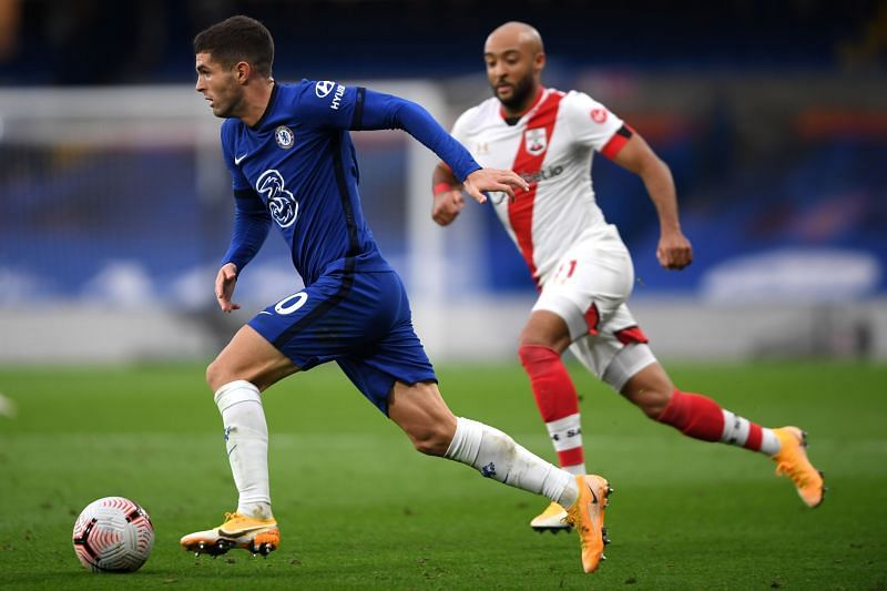 Pulisic returned to action for Chelsea with a start against Southampton