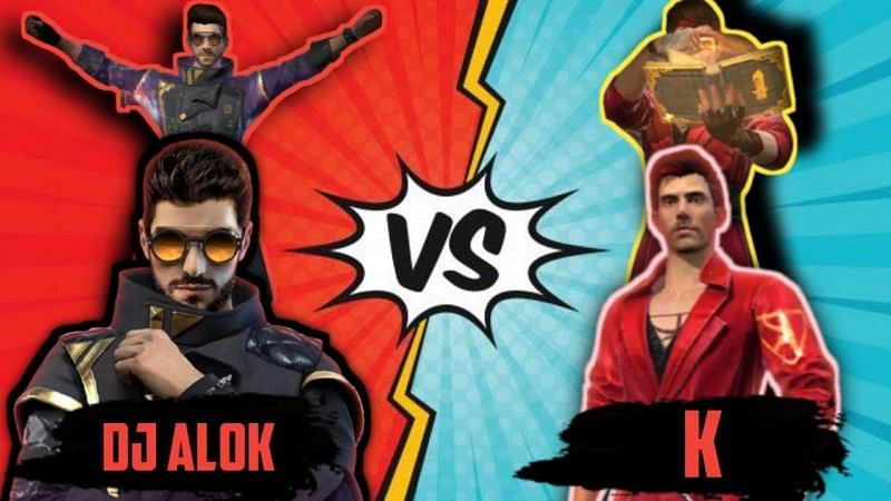 DJ Alok vs K: Who is the better Free Fire character? (Image Credits: GAMING WITH PATEL/YouTube)