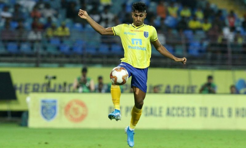 Rahul KP impressed one and all with his prowess on the left wing