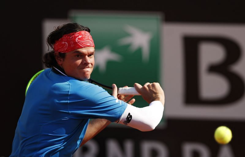 Milos Raonic at the Internazionali BNL D