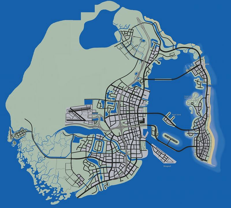 A GTA 6 map leak recently made its way into the internet (Image Credits: u/bobert_hoses, Reddit)