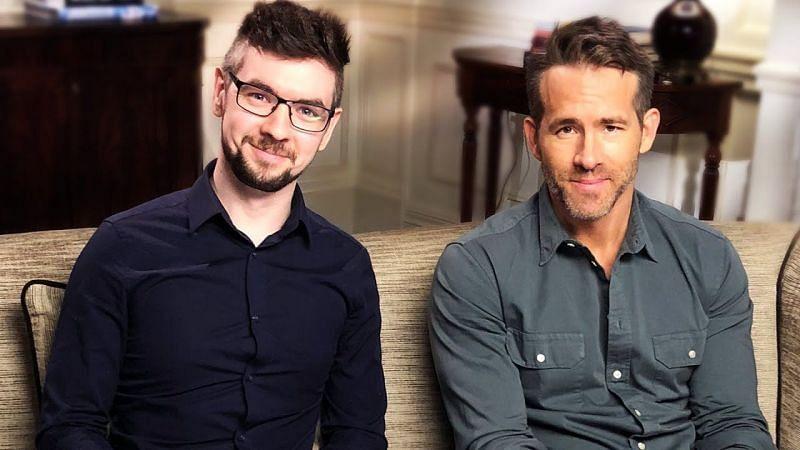 Jacksepticeye with Ryan Reynolds (Image Credits: Jacksepticeye.fandom.com)