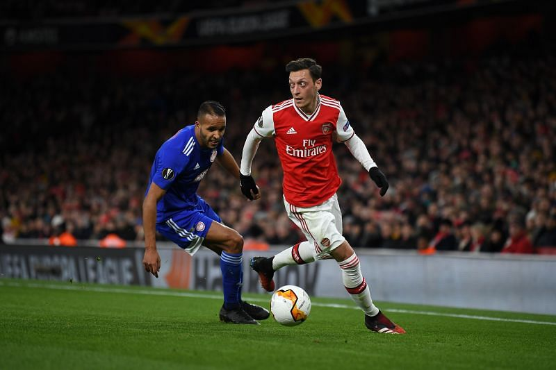 Mesut Ozil has not featured in a single match for Arsenal this season