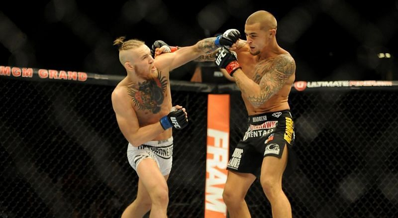 Conor McGregor knocked out Dustin Poirier in their first fight