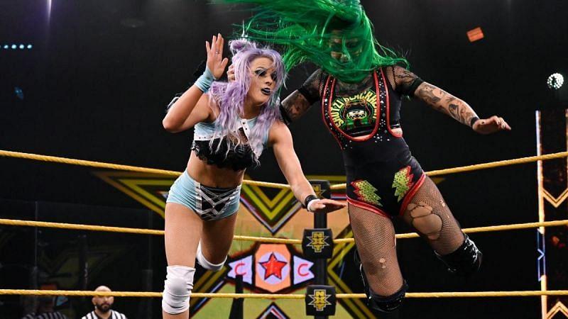 Shotzi Blackheart has been a recent rival of Candice LeRae, and an ally of Io Shirai