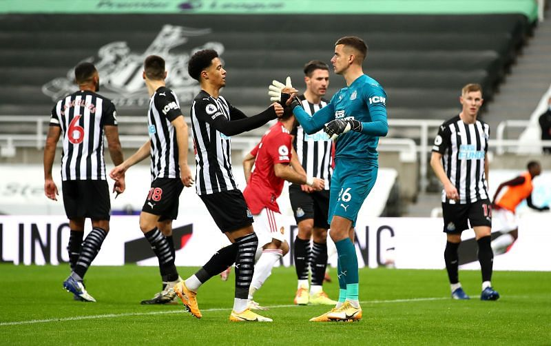 Darlow did not let injury affect a strong display in goal for Newcastle.