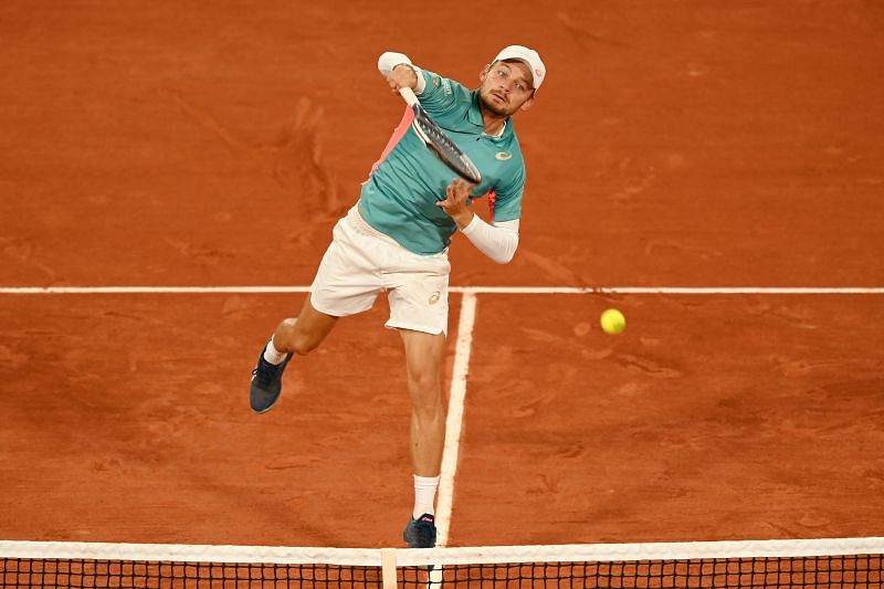 David Goffin during the 2020 French Open in Paris