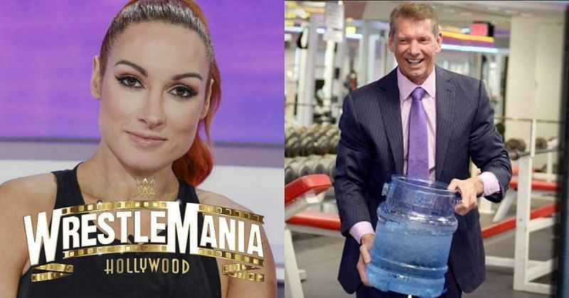 Becky Lynch and Vince McMahon.