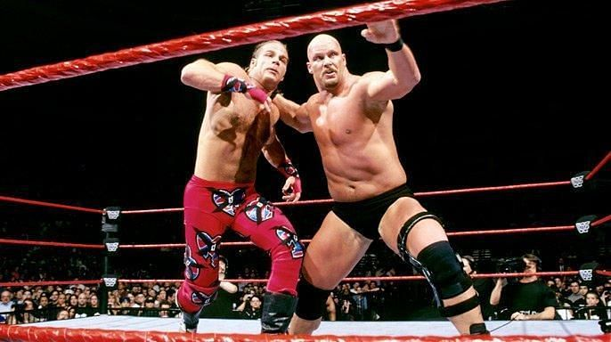 Steve Austin defeated Shawn Michaels at WWE