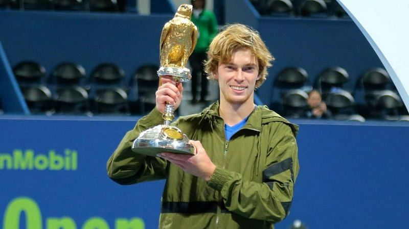Andrey Rublev started the 2020 season with a win at the Qatar Open