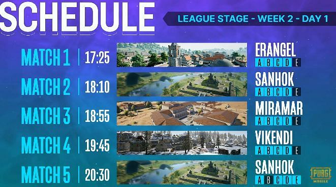 PMPL South Asia Season 2 day 1 Schedule