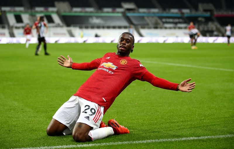 Wan Bissaka after scoring his first professional goal against Newcastle United recently.