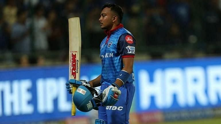 Prithvi Shaw scored a half-century against Chennai Super Kings in IPL 2020