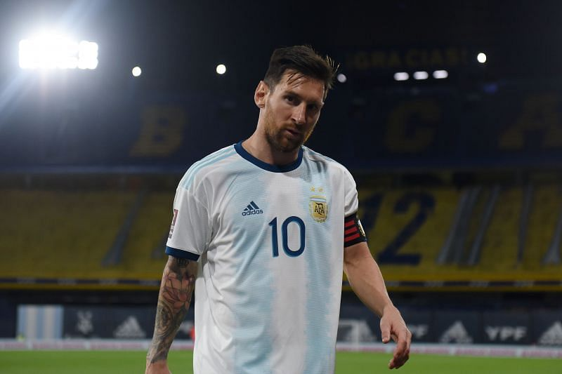 Lionel Messi of Argentina and Barcelona