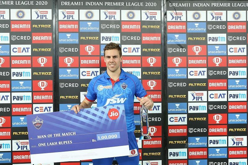 Anrich Nortje was adjudged the Man of the Match [PC: iplt20.com]