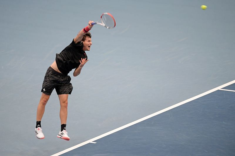 Dominic Thiem in action at the 2020 Erste Bank Open