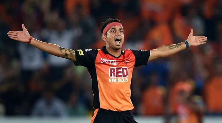 SRH bowler Siddarth Kaul went for one too many while bowling against MI.