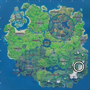 Exact Location of The Collection in Fortnite season 4 (Image credit: Eurogamer)