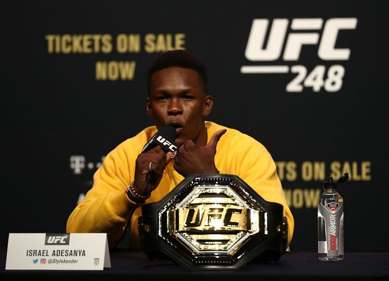 Israel Adesanya clapped back at Uriah Hall for saying he hand-picked his fights