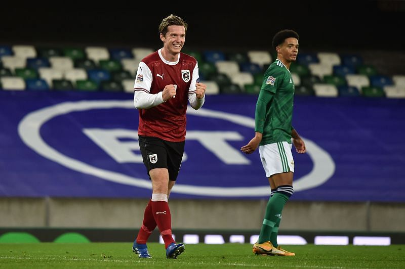 Michael Gregoritsch has hit form at the right time for Austria