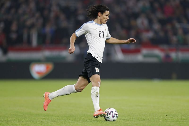 Cavani in action for Uruguay