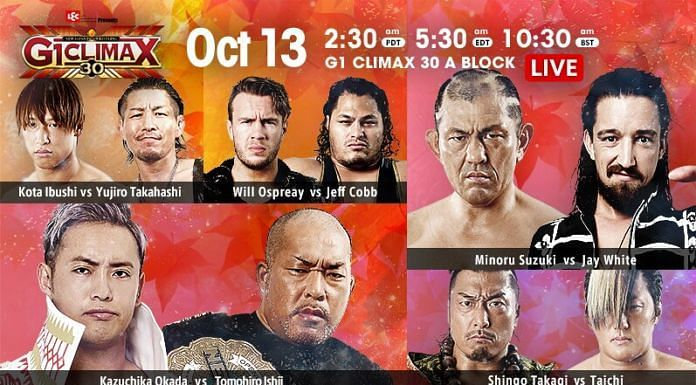 The A Block standings become clearer on G1 Climax 30 Night 15