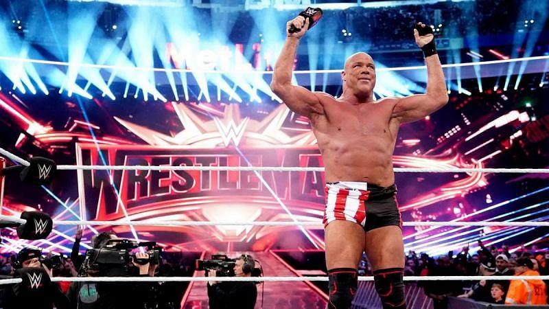 Kurt Angle in his farewell  match