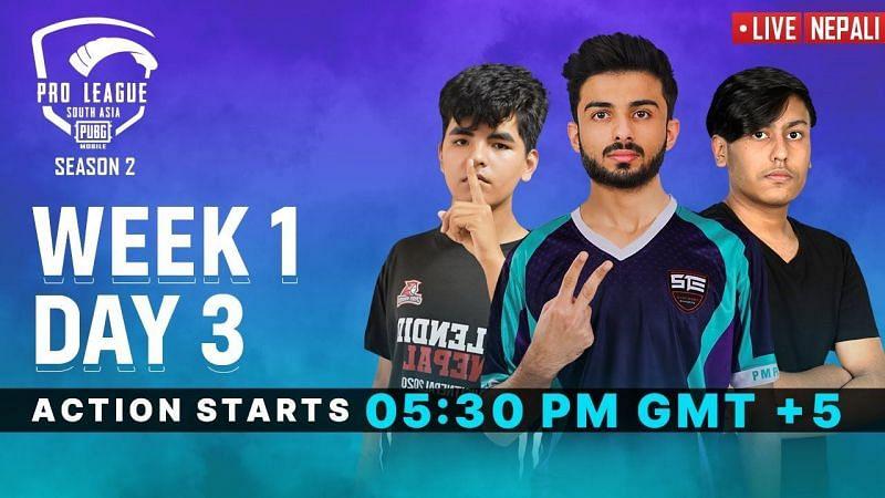 PMPL Season 2 South Asia week 1 day 3