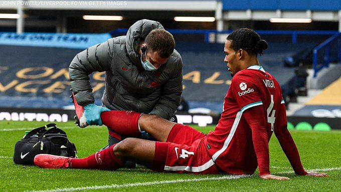 Van Dijk suffered an ACL injury after a tackle from Jordan Pickford
