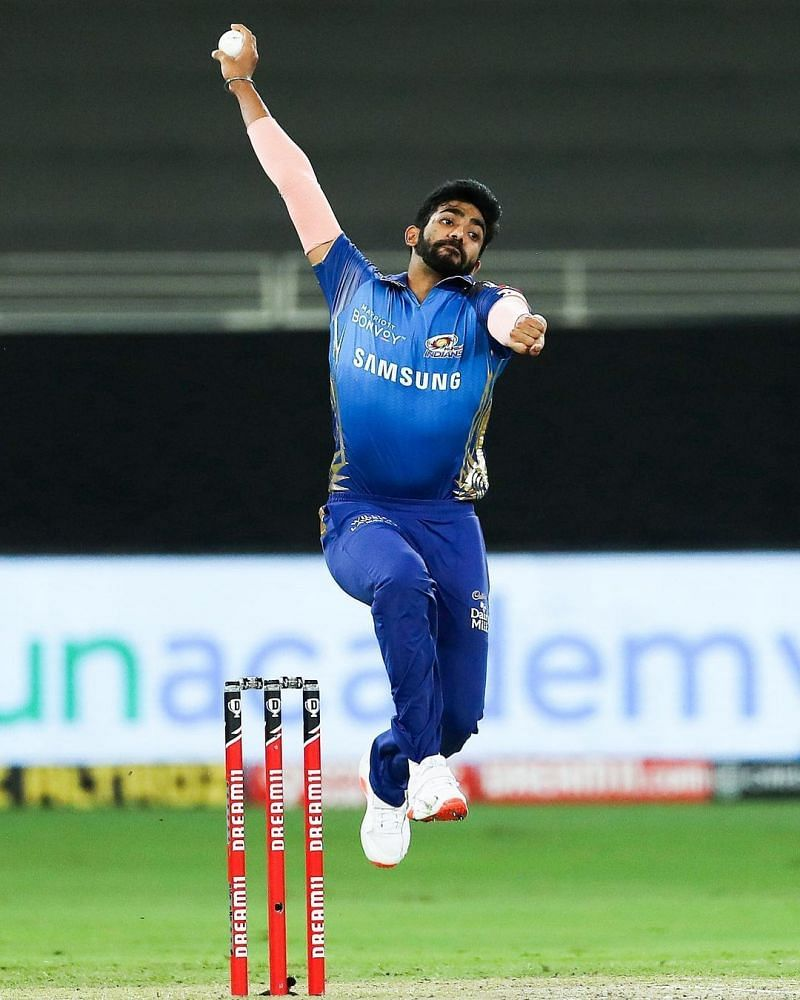 Jasprit Bumrah bowling in IPL 2020
